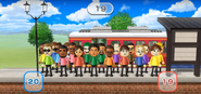 David, Steve, Pierre, Gwen, Patrick, Anna, Tommy, Fumiko, Kentaro, Shouta, Eddy, Elisa, and Emily featured in Commuter Count in Wii Party