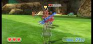 Shouta wearing Red Armor in Swordplay Showdown