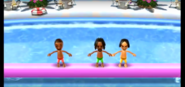 James, Alex, and Tatsuaki participating in Splash Bash in Wii Party
