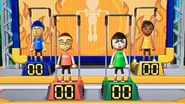 Shohei, Marisa and Sakura participating in Chin-Up Champ in Wii Party