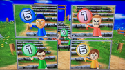 Tyrone, Asami and Pierre participating in Strategy Steps in Wii Party