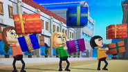 Pierre, Eddy and Marisa participating in Shifty Gifts in Wii Party