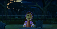 Fumiko as a Zombie in Zombie Tag in Wii Party