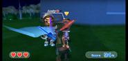 Andy wearing Purple Armor in Swordplay Showdown