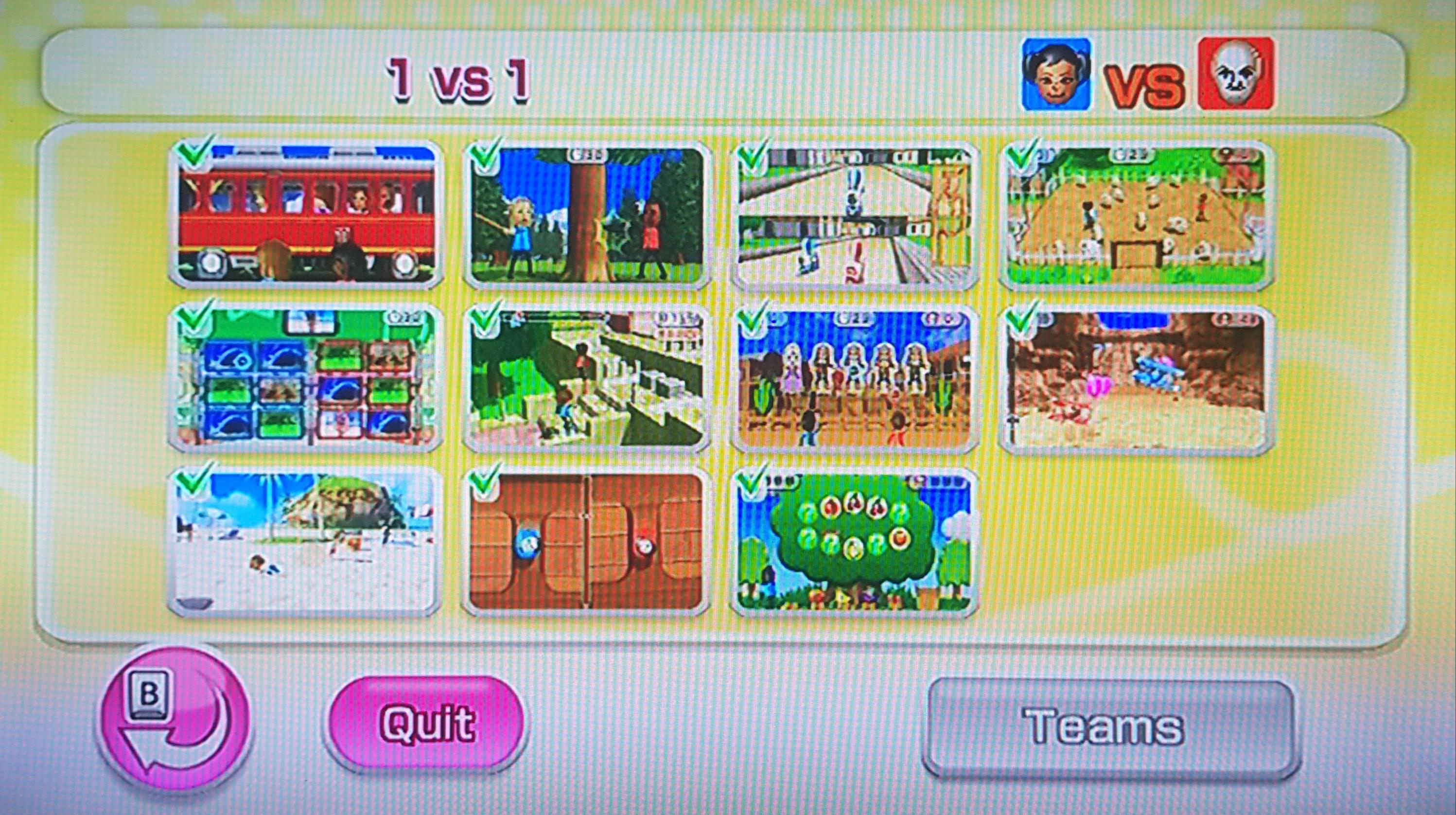 1 vs 1 minigame