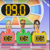 Rachel, Jake, and Eva participating in Stop Watchers in Wii Party