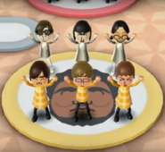 Marisa, Keiko, Hiromi, Chris, and Anna featured in Swap Meet in Wii Party