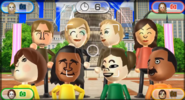 Abe, Alisha, Jessie, Fumiko, Emily, David, Midori, and Andy featured in Smile Snap in Wii Party