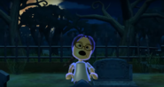 Keiko as a Zombie in Zombie Tag in Wii Party