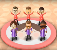 Rainer, Oscar, Asami, Giovanna, Cole, and Gwen featured in Swap Meet in Wii Party