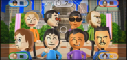 Julie, Akira, Ian, Pierre, Rin, Miyu, and Saburo featured in Smile Snap in Wii Party