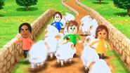 Giovanna, George, Pierre and Yoko participating in Ram Jam in Wii Party