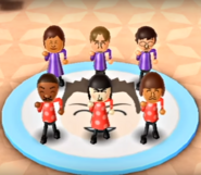 Steph, Abe, Luca, James, Marisa, and Mike featured in Swap Meet in Wii Party