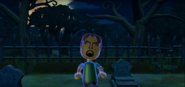 Gabriele as a Zombie in Zombie Tag in Wii Party