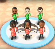 Andy, Hiromasa, Ai, Alex, and James featured in Swap Meet in Wii Party
