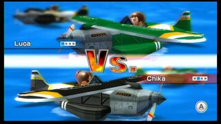 Chika and Luca playing Dogfight