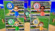 Ursula, George, Alisha and Pierre participating in Strategy Steps in Wii Party