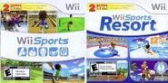 Wii Sports and Wii Sports Resort cardboard sleeve