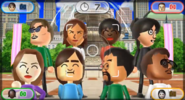 Vincenzo, Yoko, Sarah, Eva, Elisa, Hiromi, Kentaro, and Miguel featured in Smile Snap in Wii Party