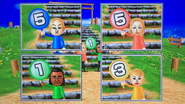 Eddy, Rachel, David and Silke participating in Strategy Steps in Wii Party