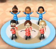 Gwen, Naomi, Tatsuaki, Akira, Giovanna, and Eddy featured in Swap Meet in Wii Party