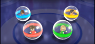 Midori, Rachel, and Keiko participating in Crash Balls in Wii Party