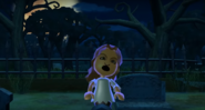 Naomi as a Zombie in Zombie Tag in Wii Party