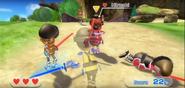Hiroshi wearing Red Armor in Swordplay Showdown