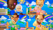 Sandra, Oscar, Gabriele and Ursula participating in Cry Babies in Wii Party