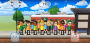 David, Luca, Marisa, Gwen, Hayley, Rin, Gabi, Midori, Giovanna, Mia, and Sota featured in Commuter Count in Wii Party