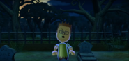Oscar as a Zombie in Zombie Tag in Wii Party