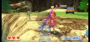 Yoshi wearing Red Armor in Swordplay Showdown