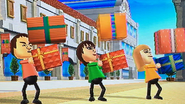 Shinta, Susana and Gabi participating in Shifty Gifts in Wii Party