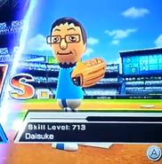 Daisuke pitching in Baseball