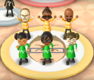 Ian, Gwen, Matt, Miyu, Ai, and Midori featured in Swap Meet in Wii Party