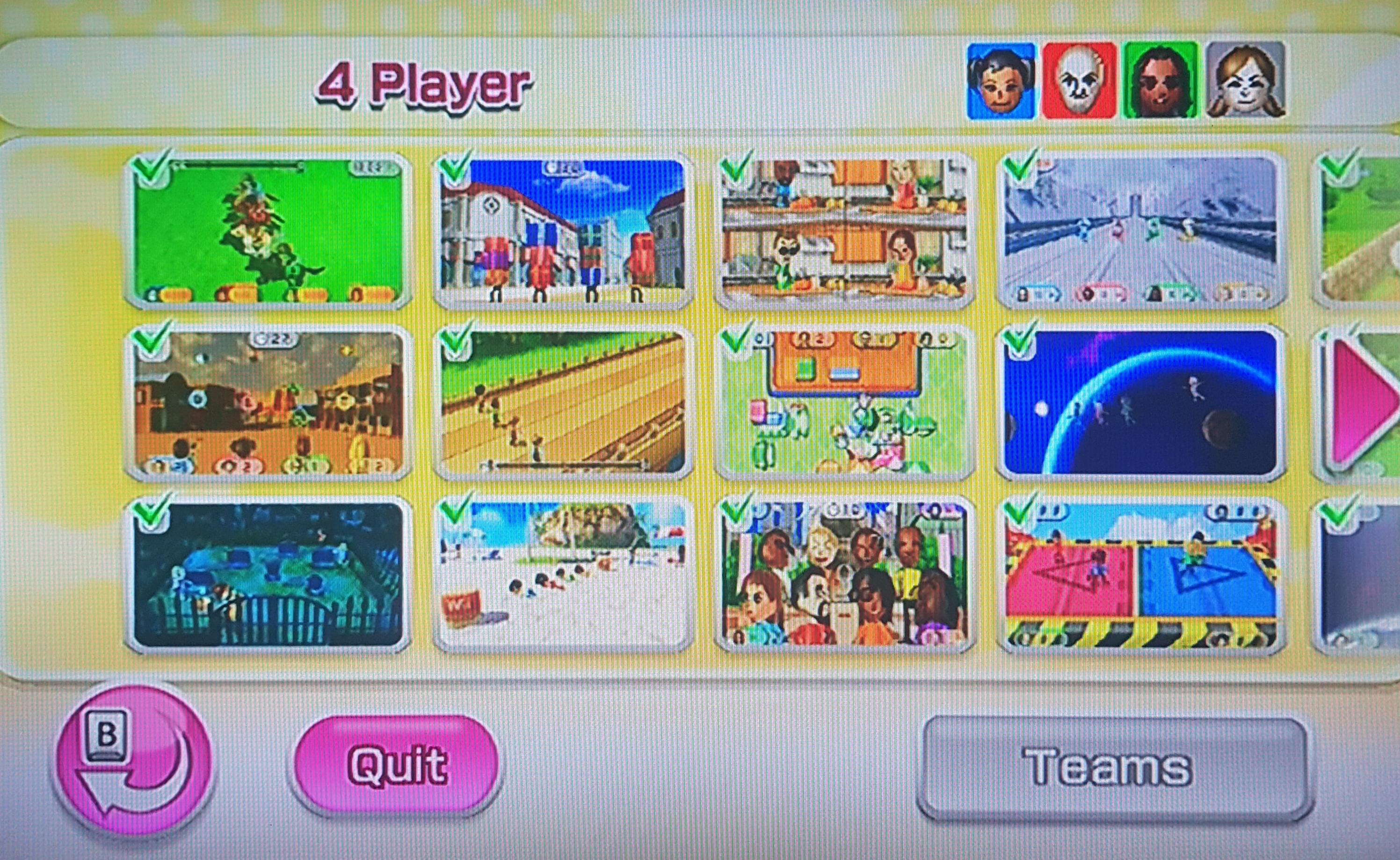 4-player minigame
