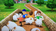 Pablo, Pierre and Emma participating in Ram Jam in Wii Party