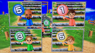 Matt, Luca, Abe and Chris participating in Strategy Steps in Wii Party