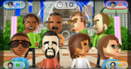 Hayley, Andy, Cole, Ian, Gwen, Victor, Yoko, and Anna featured in Smile Snap in Wii Party