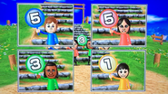 Pierre, Eva, David and Rin participating in Strategy Steps in Wii Party