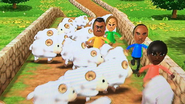 Eduardo, Sarah, Mia and Tommy participating in Ram Jam in Wii Party