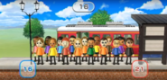 James, Lucia, Jackie, Mia, Rin, Kentaro, Eduardo, Abe, Shohei, Miyu, and Susana featured in Commuter Count in Wii Party