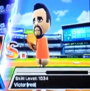 Victor as a Pro in Baseball