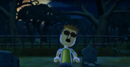 Steve as a Zombie in Zombie Tag in Wii Party