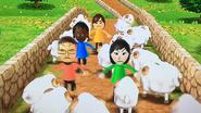 Sandra, Daisuke, Misaki and Hiromi participating in Ram Jam in Wii Party