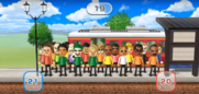 Michael, Ian, David, Shinnosuke, Megan, Eduardo, Patrick, Greg, Sota, Tyrone, Andy, and Pierre featured in Commuter Count in Wii Party
