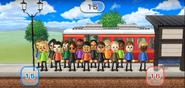 Abby, Holly, Eva, Pablo, Midori, Chika, Hiroshi, Shinnosuke, Tatsuaki, Susana, Nelly, Jessie, Haru, Pierre, and Stephanie featured in Commuter Count in Wii Party