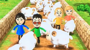 Misaki, Alisha, Akira and Eddy participating in Ram Jam in Wii Party