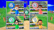 Pierre, Susana, Eva and Kentaro participating in Strategy Steps in Wii Party
