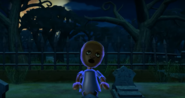 Emma as a Zombie in Zombie Tag in Wii Party